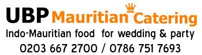 UBP Mauritian Catering London, Mauritian Wedding Caterers UK